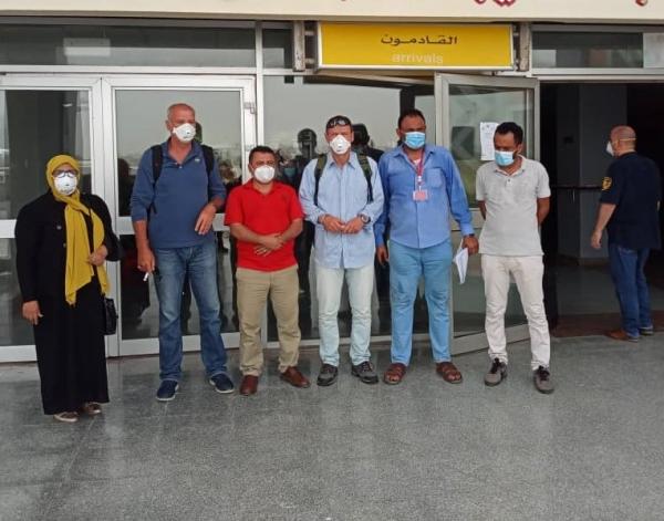الفريق الطبي الدولي المخصص لإنشاء وحدة طبية يصل عدن