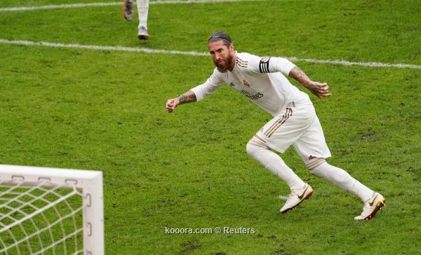 ريال مدريد يهرب بالصدارة بفوزه على اتلتيك بيلباو بهدف راموس