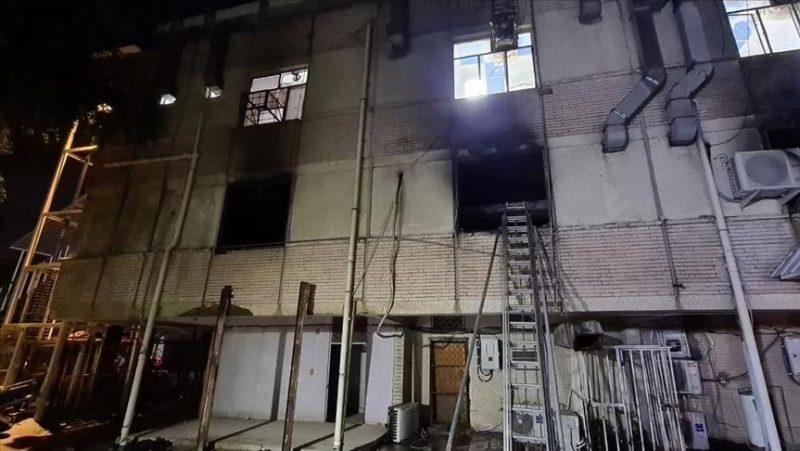 مصرع واصابة نحو 65 شخصا إثر حريق بمستشفى لمرضى كورونا في بغداد