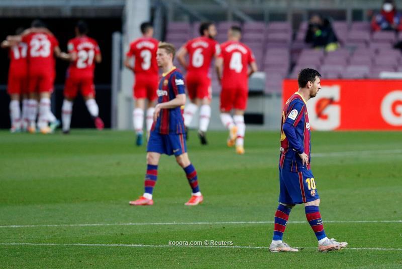برشلونة يقع في فخ ريمونتادا غرناطة ويفوت فرصة صدارة الدوري الاسباني