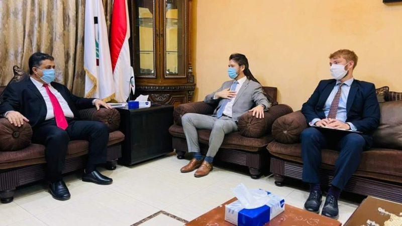 """تفاصيل لقاء رئيس الائتلاف الوطني الجنوبي """"احمد العيسي"""" مع نائب السفير البريطاني لدى اليمن """"سيمون سمارت"""""""
