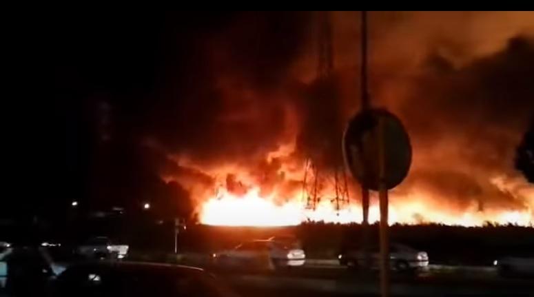 بعد ساعات من حريق بوشهر.. النيران تلتهم منشأة إيرانية في قزوين