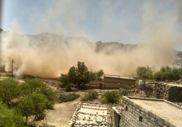 مليشيا الحوثي تفجر منزل مواطن في محافظة الضالع