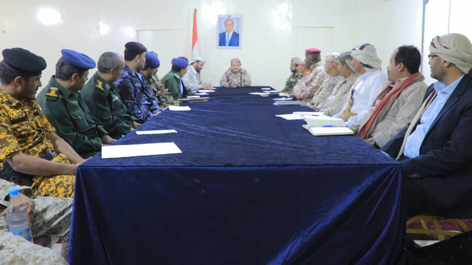 إجتماع أمني عسكري مشترك في مأرب يقر تشكيل لجنة مشتركة