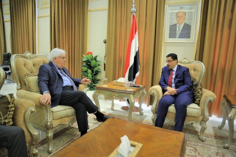 وزير الخارجية يبحث مع المبعوثان الأممي والأمريكي تطورات الأوضاع وجهود إحلال السلام